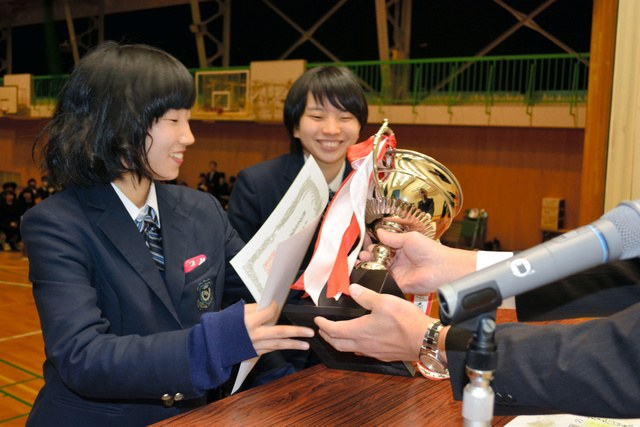 新発田農業高校での「プロジェクト発表県大会」