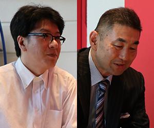 企画課 林田晃洋様(左) 就職課 課長代理 木村宏一様(右)